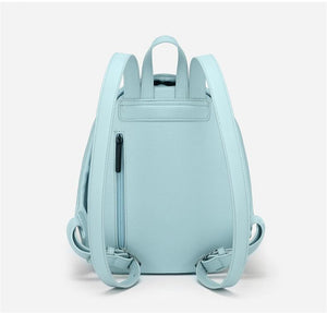 Light Blue Anti Theft Backpack for Women  -  Pickpocket Proof Bag