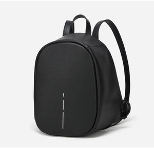 Black anti theft backpack for girls