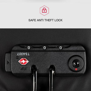 Safe anti theft lock on a backpack