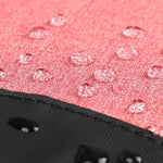 Water-resistant material on anti pickpocket backpack for women