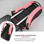 Back strap on lockable anti theft backpack for women for travel