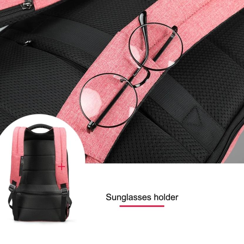 Glass holder strap  Lockable Backpack Anti Theft Backpack For Women Pickpocket Proof