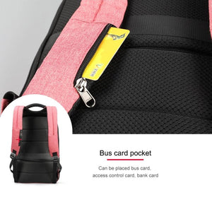 Hidden card pocket on  Lockable Backpack Anti Theft Backpack For Women Pickpocket Proof
