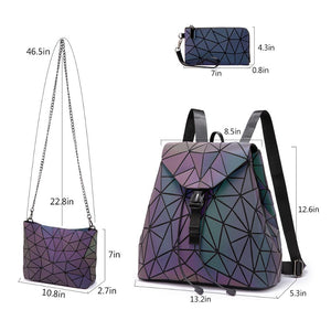 Geometric Luminous Bags size chart