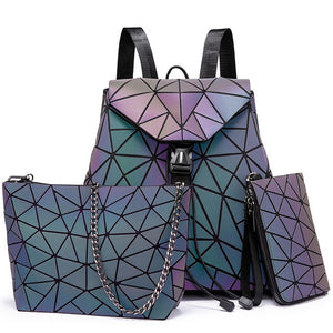 Geometric Luminous Backpack Combo