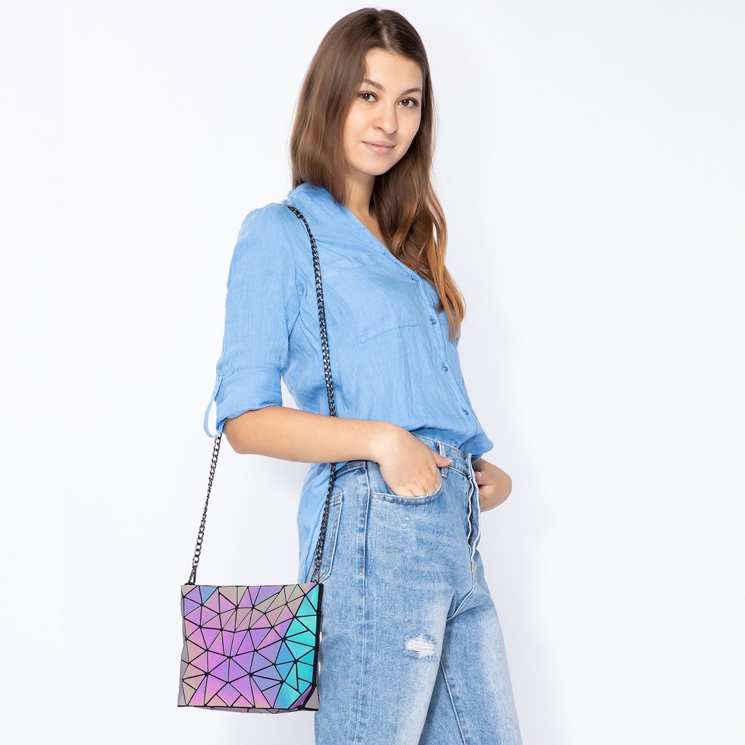Women wearing Luminous Messenger Bag