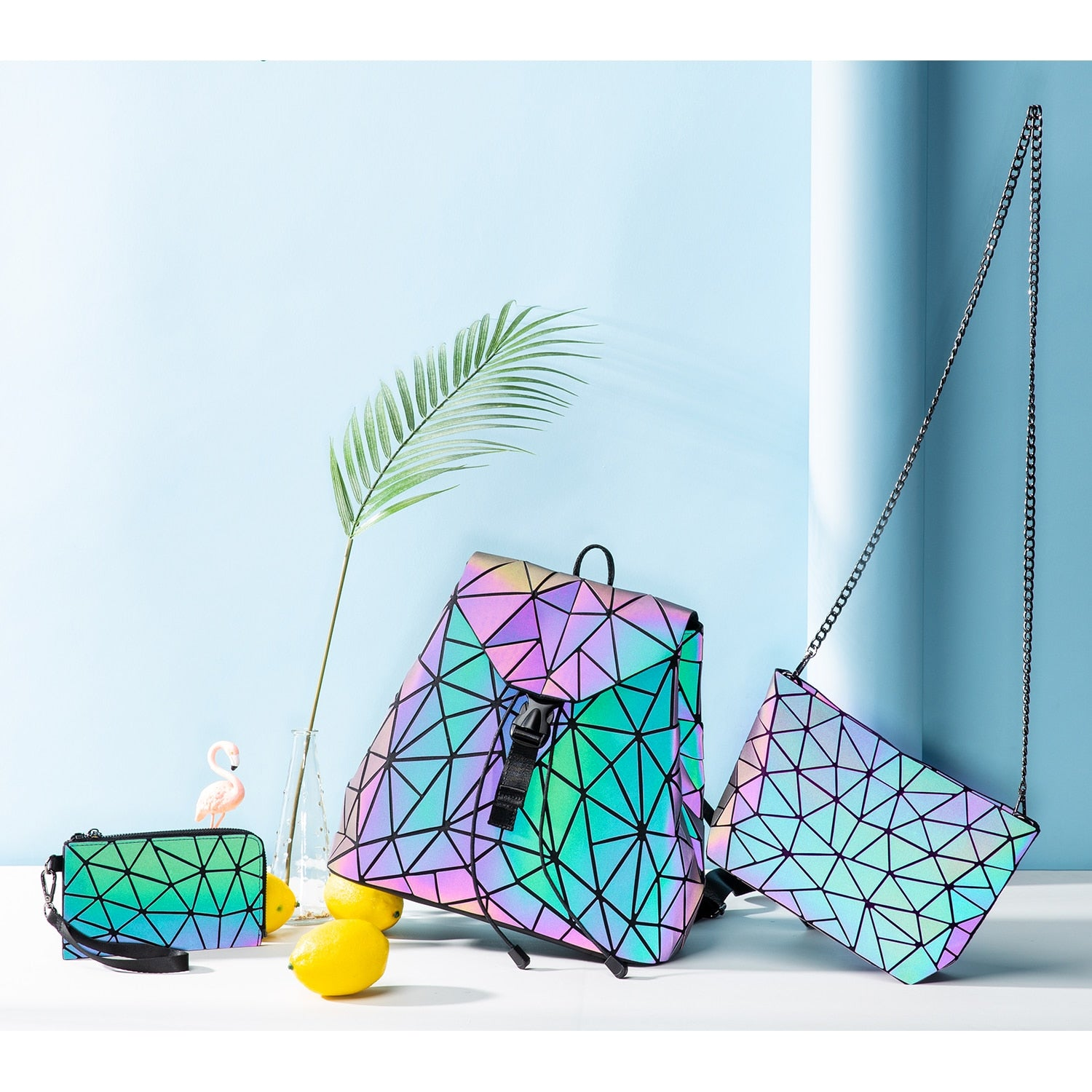 Reflective Geometric Luminous Bags