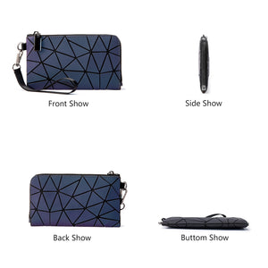 Geometric Luminous Light Wallet Size