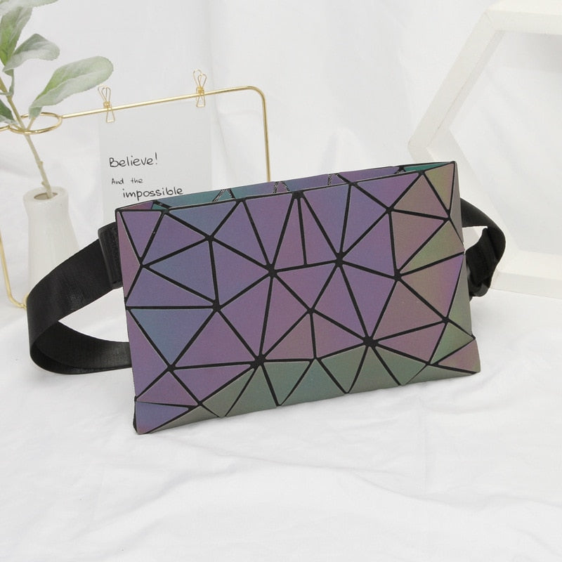 Holographic Luminous Fanny Pack Light Irregular