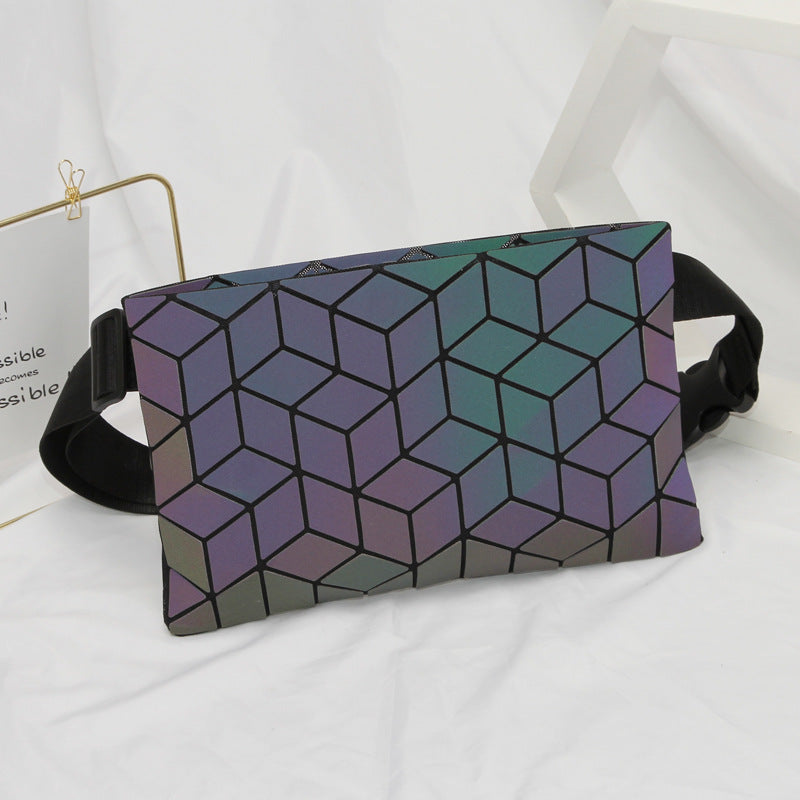 Luminous Fanny pack Holographic bag
