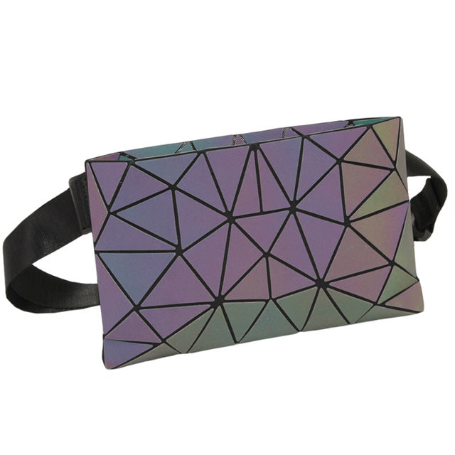 holographic luminous fanny pack light