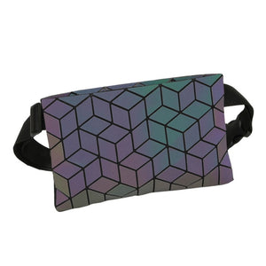 Holographic Geometric Luminous Fanny Pack