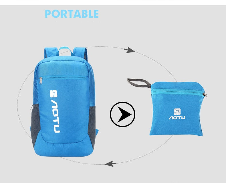AOTU folding backpack into pouch