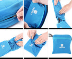 transform backpack into pouch for travel