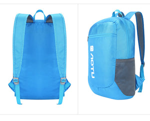 AOTU 20L Packable Backpack Blue Size Back view
