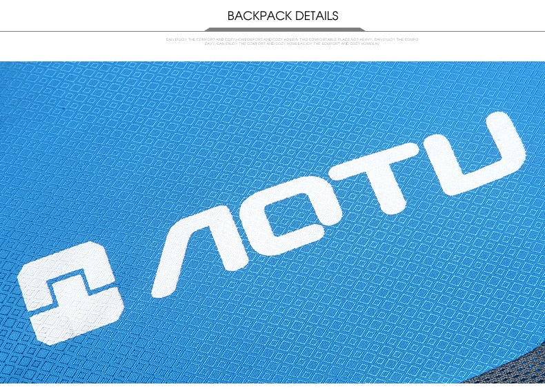 AOTU 20L Packable Backpack logo closeup