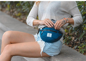 Female wearing Naturehike Packable Fanny Pack - Foldable Bag