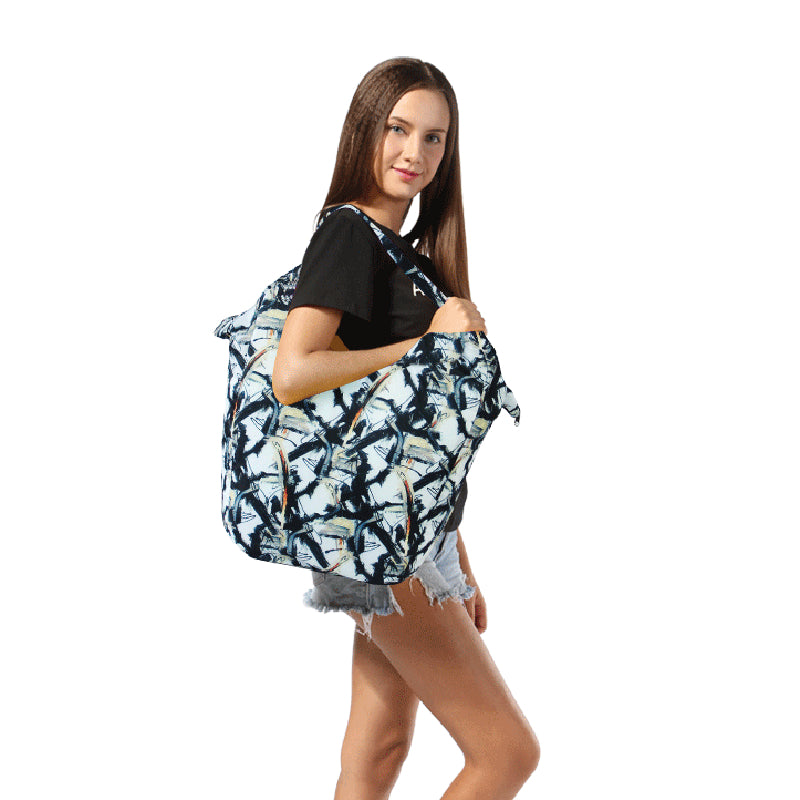 Floral Packable Tote Bag - 20L - Foldable bags for women