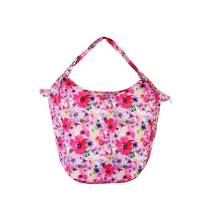 pink Floral Packable Tote Bag - 20L - Foldable bags