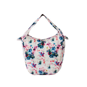 light pink Floral Packable Tote Bag - 20L - Foldable bags