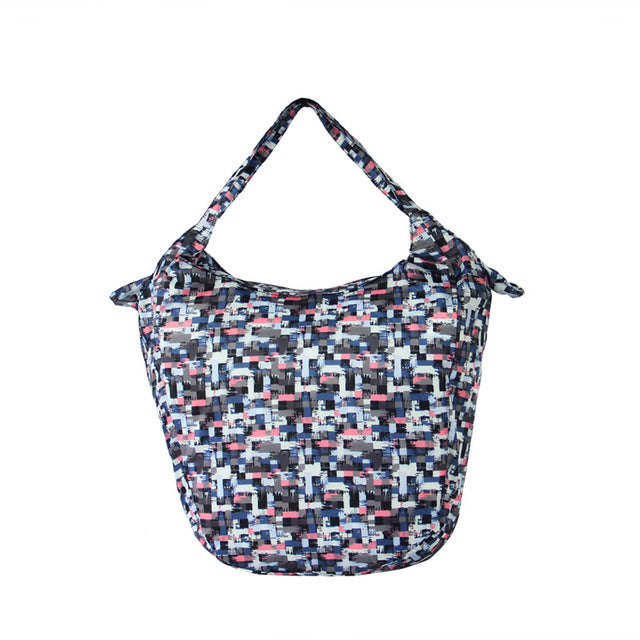Pattern Packable Tote Bag - 20L - Foldable bags