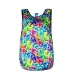 Floral Blue Green Packable Backpack - Foldable daypack