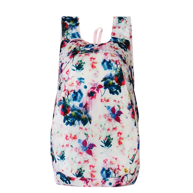 White pink Packable Backpack transformable Foldable daypack