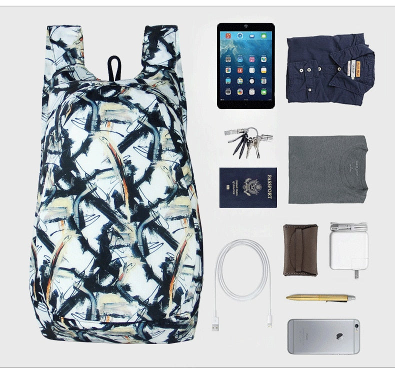 Colorful Packable Backpack - Foldable daypack size
