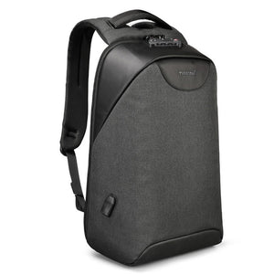 Black Lockable Backpack Anti Theft Backpack For Women Pickpocket Proof