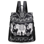 Elephant anti theft backpack for women