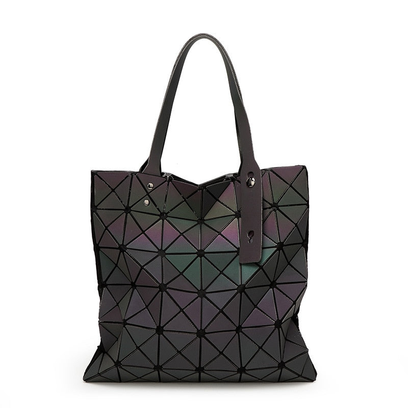 Geometric Luminous Luxury Handbag -  Stand Out Bags