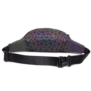 Geometric Waist Bag Luminous Fanny Pack -  Stand Out Bags