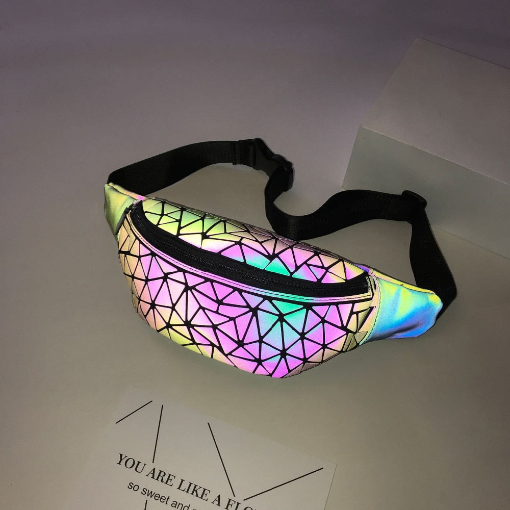 Geometric Waistbag Luminous Fanny Pack -  Stand Out Bags
