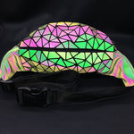 Holographic Geometric Luminous Fanny Pack -  Stand Out Bags