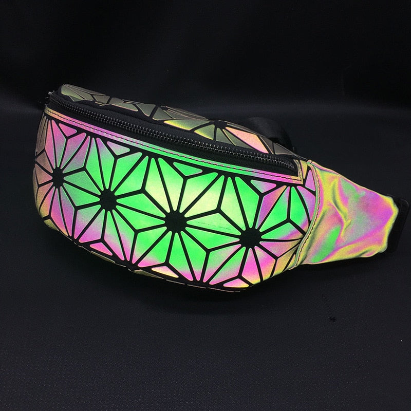 Holographic effect on Luminous Fanny Pack