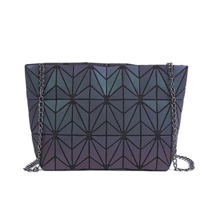 Flowers - Chain Messenger Bag from Geometric Luminous Bags