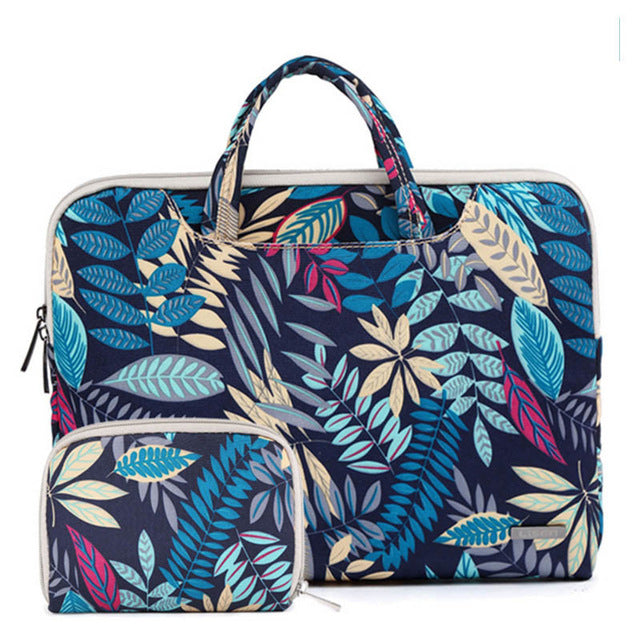 Floral Laptop + Storage Bag