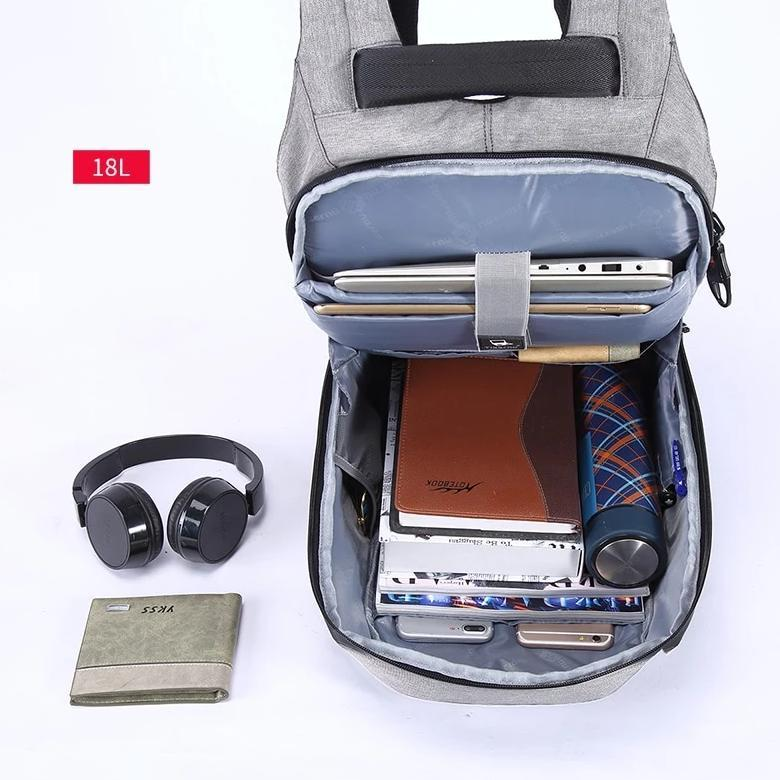 Inside Anti Theft Backpack with USB Charging Port