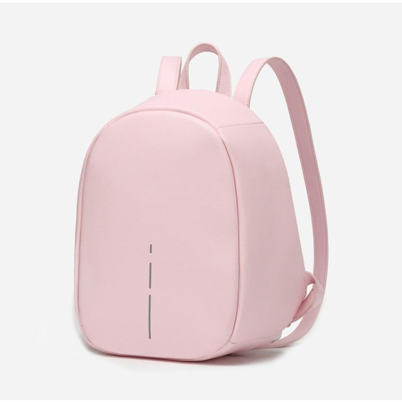 Anti Theft Backpack for Women  -  Pickpocket Proof Bag Pink