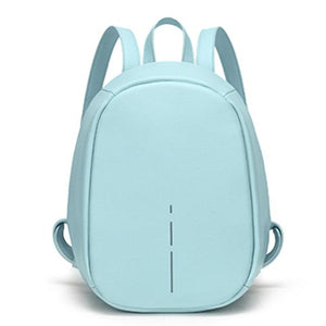 Blue Anti Theft Backpack for Women  -  Pickpocket Proof Bag
