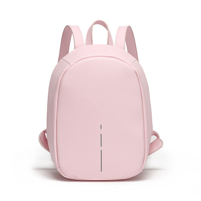 Pink Anti Theft Backpack for Women  -  Pickpocket Proof Bag