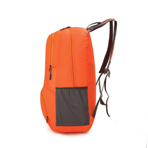 Nylon Packable Backpack 25L with pockets - Orange size