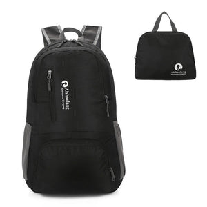 Nylon Packable Backpack 25L with pockets - Black