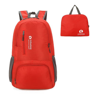 Nylon Packable Backpack 25L with pockets - Red