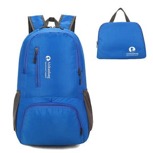 Nylon Packable Backpack 25L with pockets - Blue