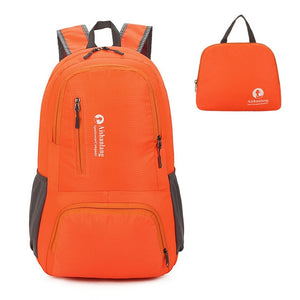 Nylon Packable Backpack 25L with pockets - Orange
