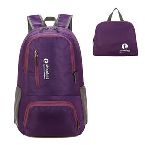 Nylon Packable Backpack 25L with pockets - Purple