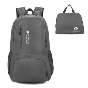 Nylon Packable Backpack 25L with pockets - Grey
