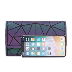 Geometric Luminous Wallet Phone