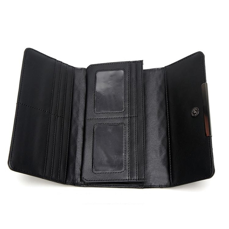 Geometric Luminous Wallet inside empty